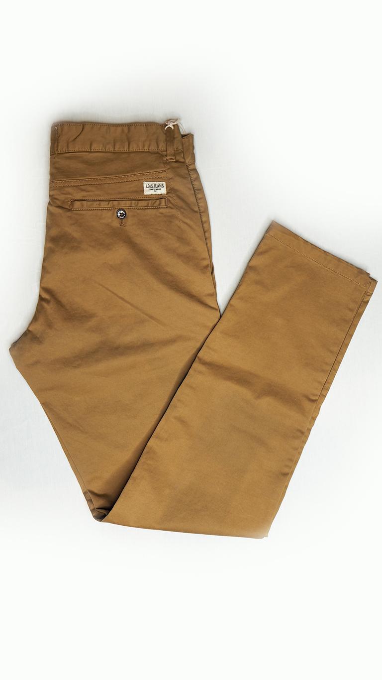 pantalon chino marron hombre Lois